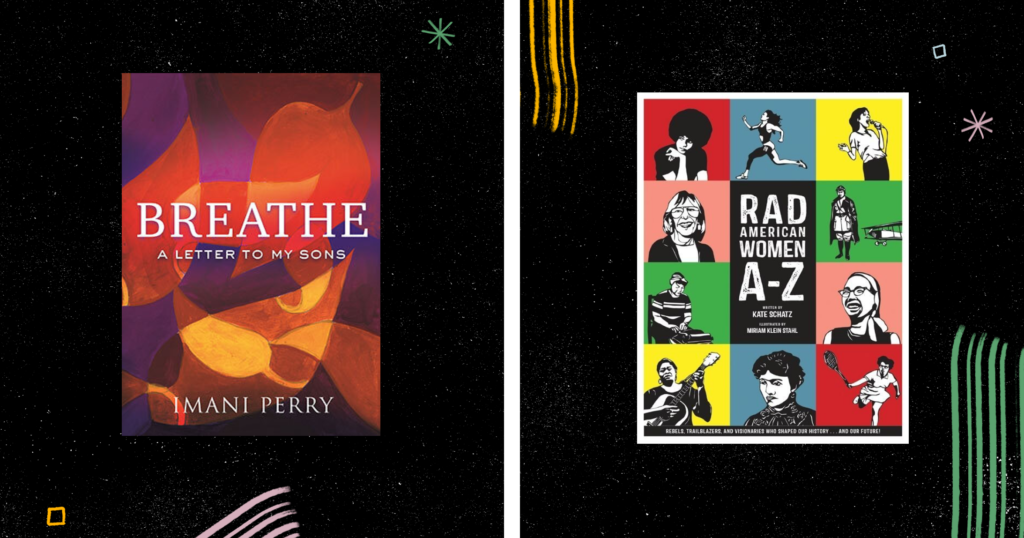 book cover images for Breathe and Rad Women A to Z